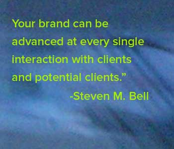 branding quote: Your brand can be advanced…